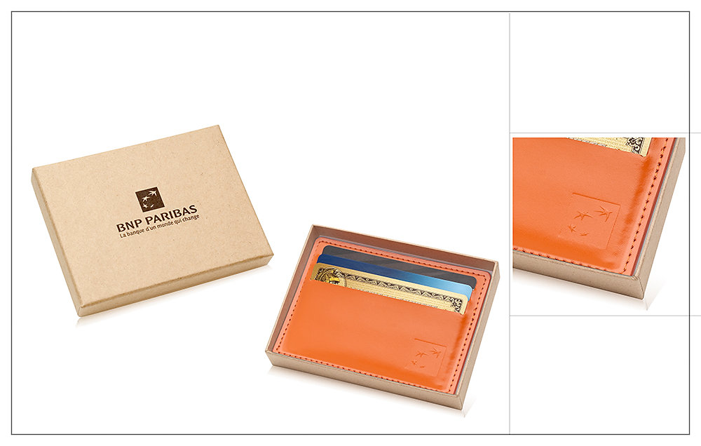 Porte cartes cuir BNP Paribas